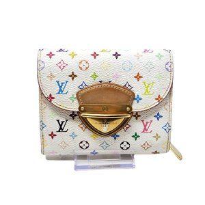 Auth Louis Vuitton Compact Multicolor Wallet